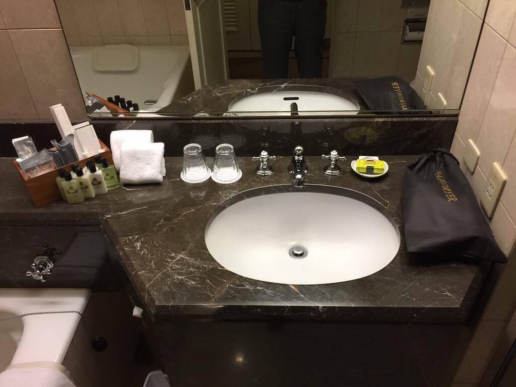 インターコンチネンタル横浜の部屋の洗面台