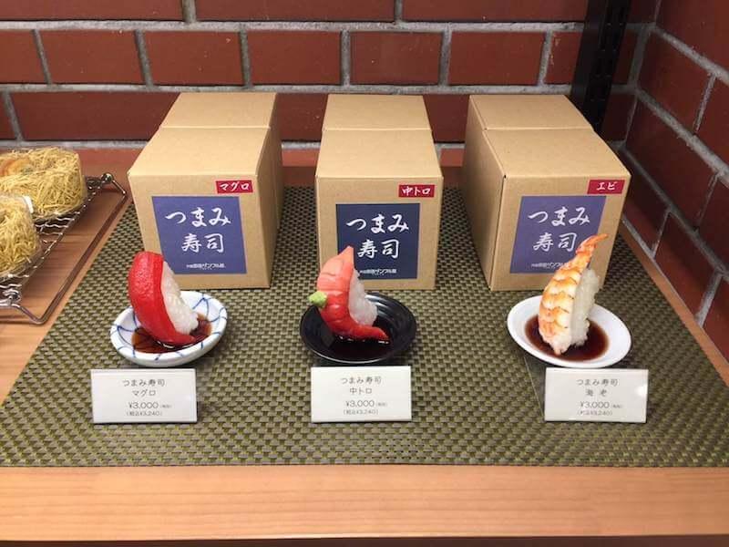 赤レンガ倉庫の元祖サンプル屋の寿司ネタ