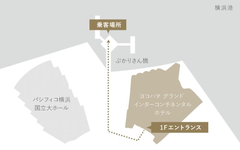 ル・グラン・ブルーの乗り場地図