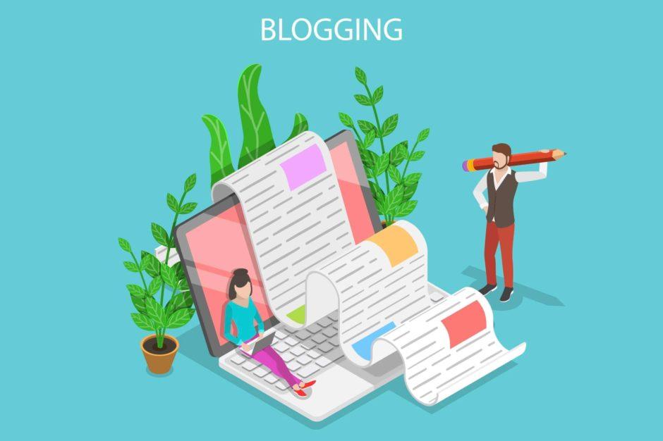blogを書いている男女